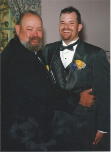 Sean and his Dad at Sean's wedding